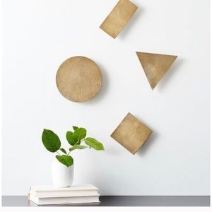 West Elm Confetti Wall Art in Gold New in box
